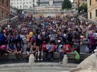 a chance to relax on the spanish steps