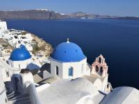 blue-domed churches of Oia