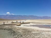 west to the Salt Flats at Badwater Basin