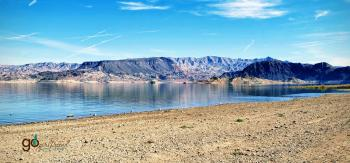 Lake Mead National Recreation Area towards the mountains