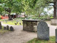 the Old Burying Point historic cemetery