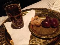 moroccan tea and baklava treats